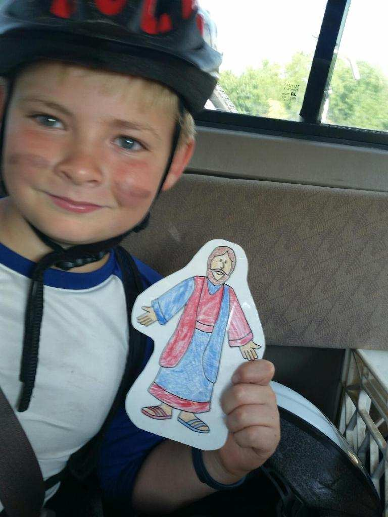 Charlie and Flat Jesus are both Cubs fans