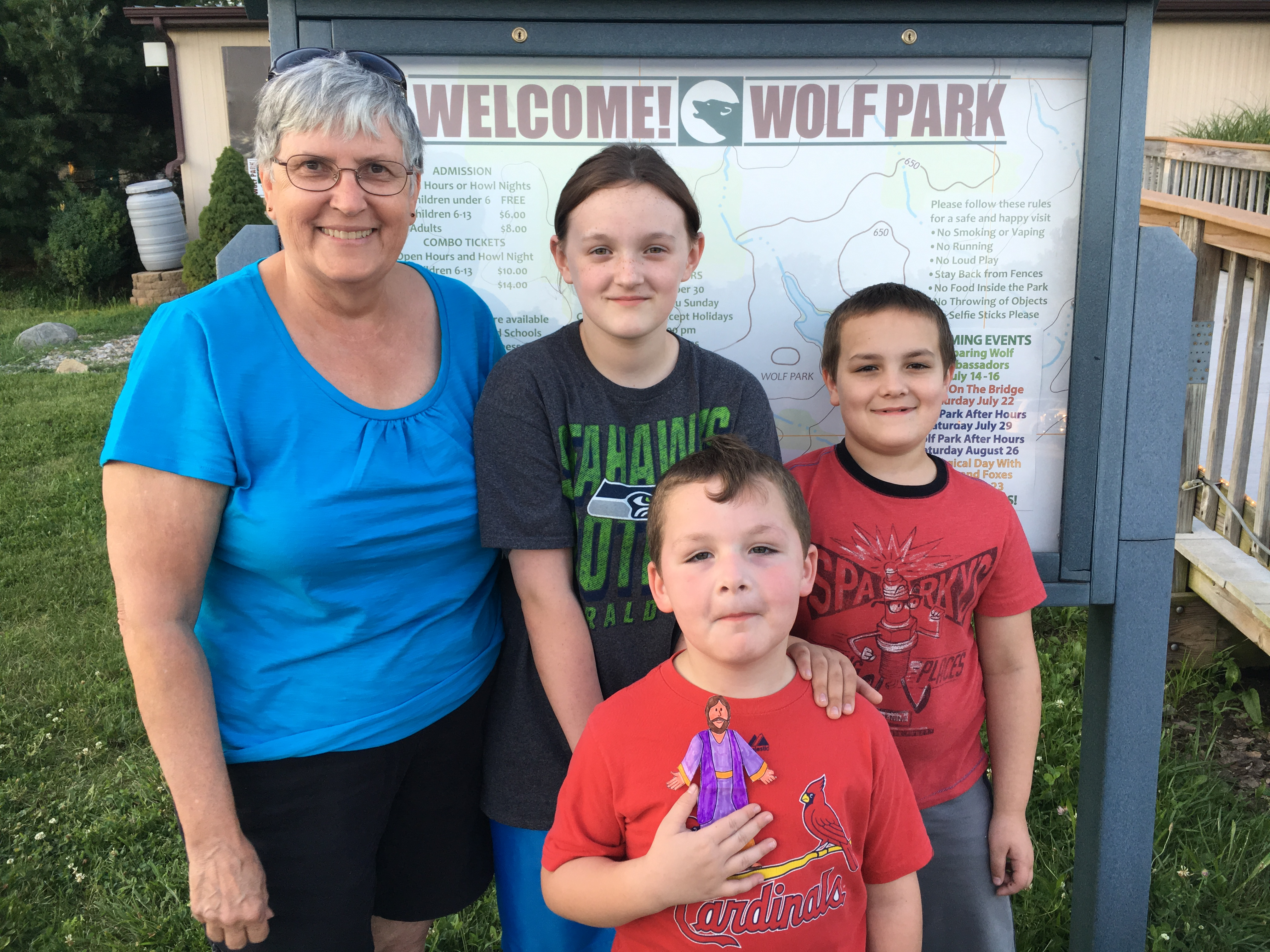 Howl Night at wolf park with Grandma Connie 7 16